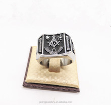 316l custom men's signet stainless steel masonic finger rings military rings for sale