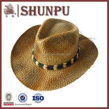 Wholesale Fashion Straw Cowboy Hats With Print Logo
