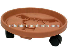 Flower pot stand/plant pot movers/plastic flower pot trays