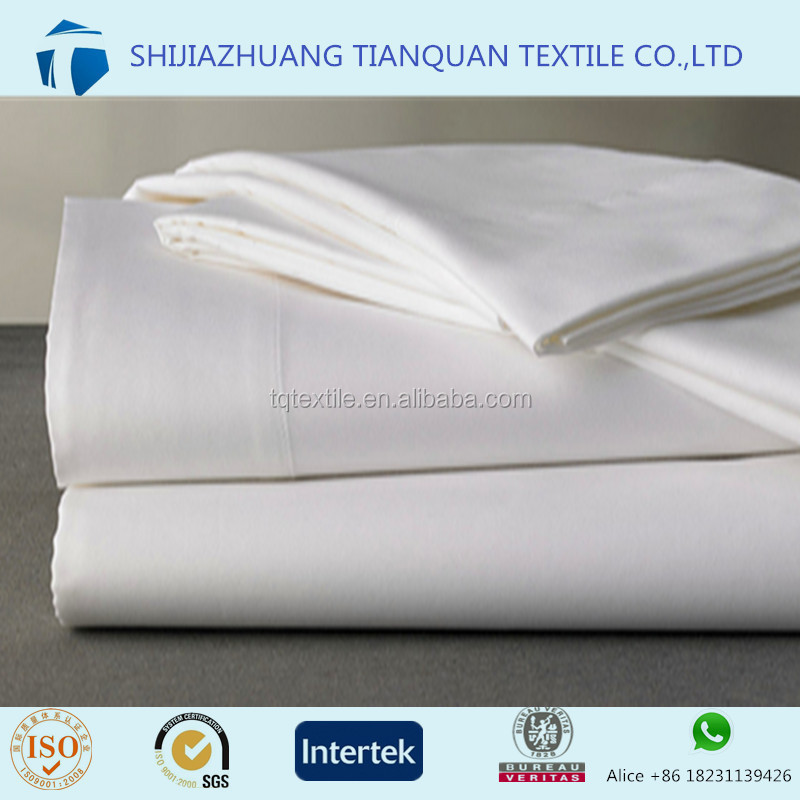 2017 luxury 100 cotton satin bed sheet fabrics with wide width to European/Dubai