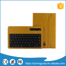 hot sale & high quality bluetooth keyboard leather case for ipad air
