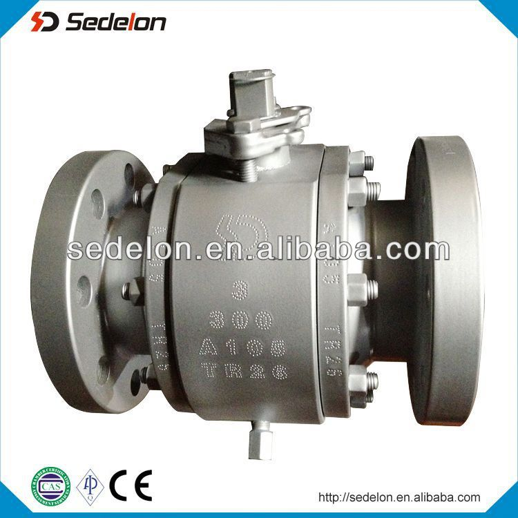 Flange Type WCB Trunnion Mounted Ball Valve