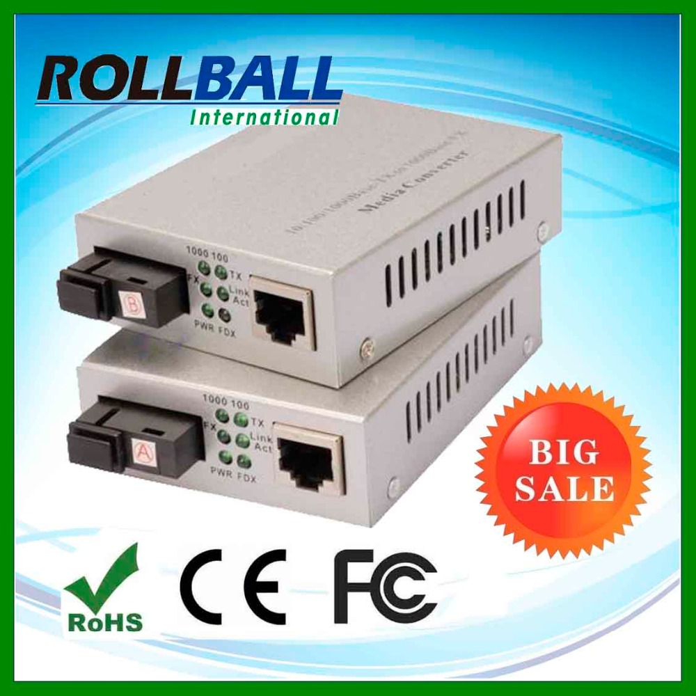 1000Base-T to SFP copper port SM MM fiber to utp converter