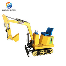 kids mini electric kids ride on toy excavator