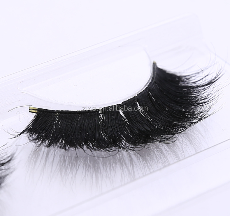 2018 hot Product Makeup Horse hair eyelashes 100% real horse tail premium false lashes Handmade 3d horse hair eyelashes