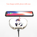 New design glass mirror qi wireless charger pad 7.5w/10w for iphone