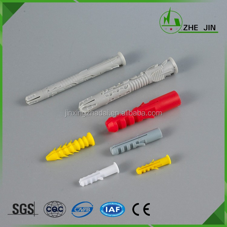Zhe Jin Colorful Plastic Wall Expand Nail Expand Plugs Different Size PE Material