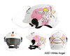 White Angel Cartoon On Road Helmet Motorcycle Helmet Half Face Helmet