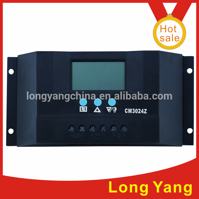 Mini PWM hybrid solar charge controller with LCD display made in China