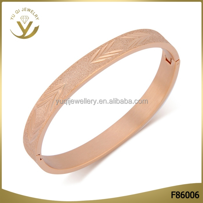 Fashion jewelry Silver Brass Bangle Rose Gold Plated Adjustable Bracelet for Women