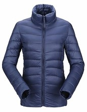 women fashion design foldable waterproof down jacket