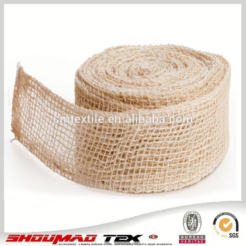 decoration jute hessian roll for bag