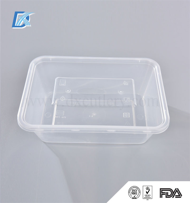 650ml 22oz Food Grade Microwave Plastic Disposable Lunch Box Material Container
