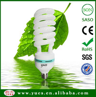 CE ROHS proved economic 3000 hours 75W half spiral saving light bulbs