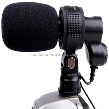 Professional CCTV Interview digital camera Stereo external Video Microphone with cable