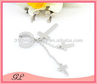 Cross special dangling surgical steel indian jhumka earring