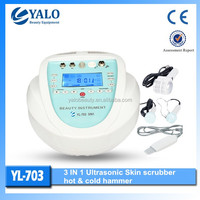 (YL-703) 3 in1 Ultrasonic Skin scrubber Microdermabrasion beauty equipment with CE