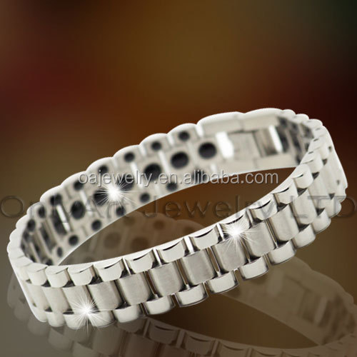 wholesale price health energy adjustable 316 stainless steel magnetic bracelets for men