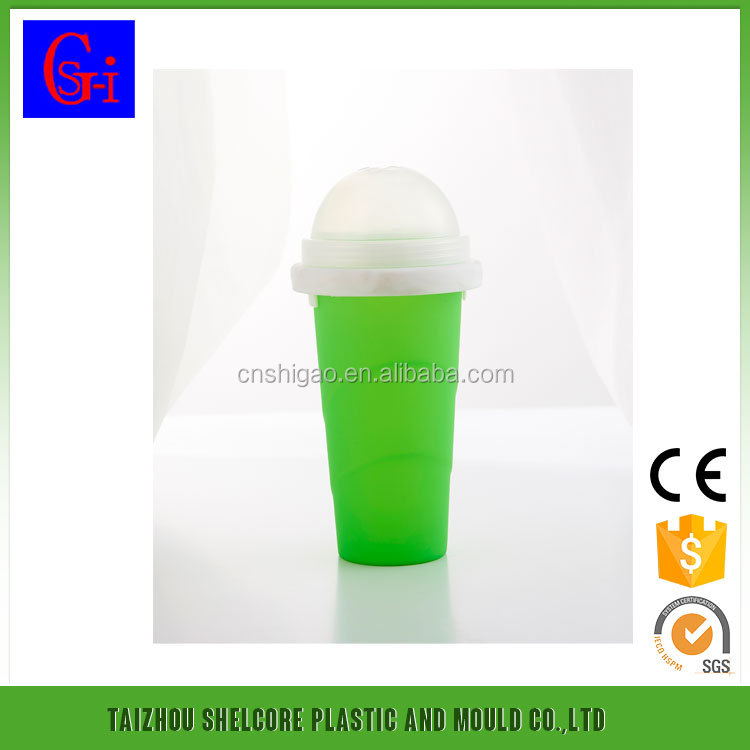 Cold drink beverage pp smoothie party BOTTLE 600ML plastic cup with lids