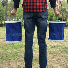 GBAD-181 Foldable water car bucket new design easy carry bucket for fishing wholesale promotional portable bucket