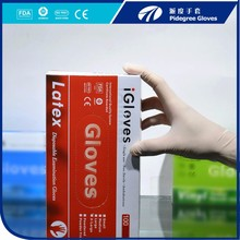 Industrial non sterile disposable breathable latex gloves
