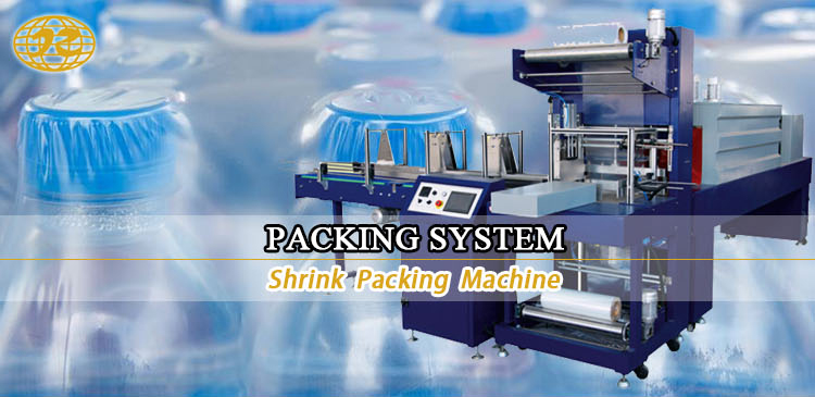 High Speed Automatic Heat shrink water bottle wrapping packing machine