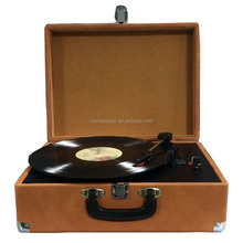 Retro solid wooden LP link player turntable 3 Speed Stereo Record Player