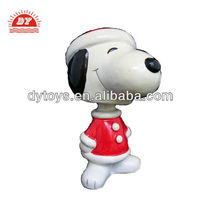 3d car dashboard mini Christmas plastic bobble head cartoon snoopy figurine