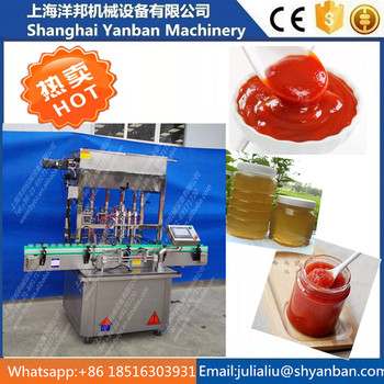 Easy operation of automatic peanut/ butter/tomato sauce filling machine