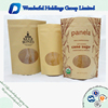 kraft paper bags with oval window resealable standing pouches kraft paper pouch bag