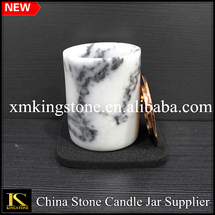 China white marble candle jars, whiskey stone cup and marble cups