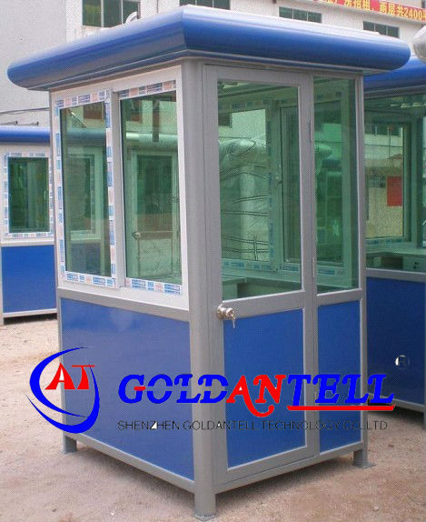 Security retractable safety prefabricated steel house & mobile sentry box & sentry box house