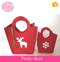 Fast delivery time good price ladies hand made felt bags