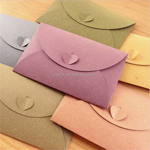 A6 colorful paper envelopes with Love buckle envelope creative gift envelop size 175*110mm