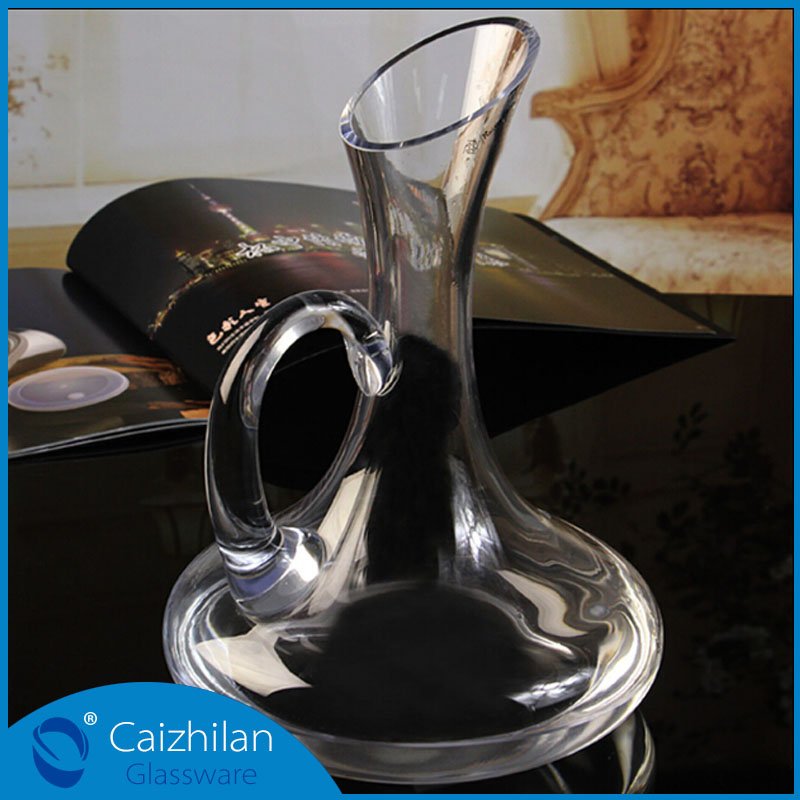 1.5 liters large oblique mouth crystal decanter for <strong>wine</strong>
