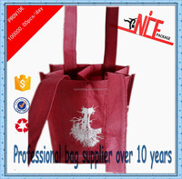 2015 non woven wine bottle carrier bag chinawholesale