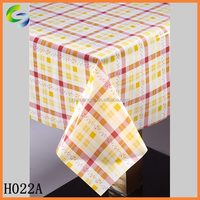 Transparent printed plastic pvc dining table cover in roll