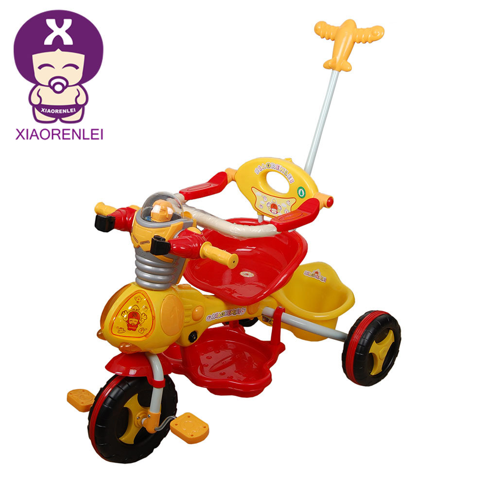Unisex 2 In 1 Stroller Plastic Child Tricycle Three Wheeler