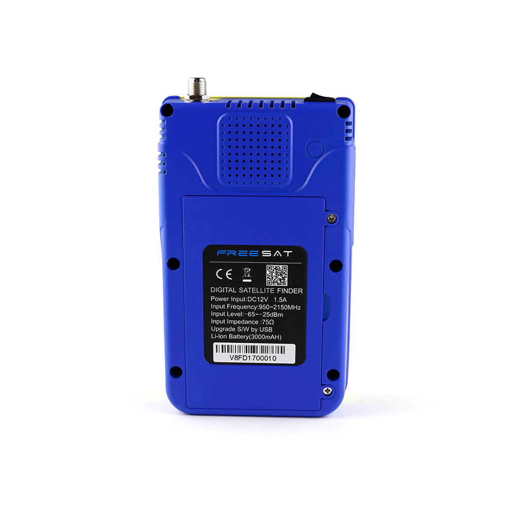 Most popular freesat v8 dvb-s2 digital satellite finder meter Lithium-ion 3000mA Battery