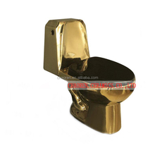 New design ceramic sanitary ware toilet golden color two piece wc toilet seat