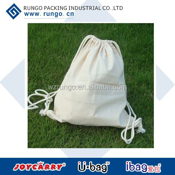 Factory selling nature eco-friendly cotton drawstring dust bag