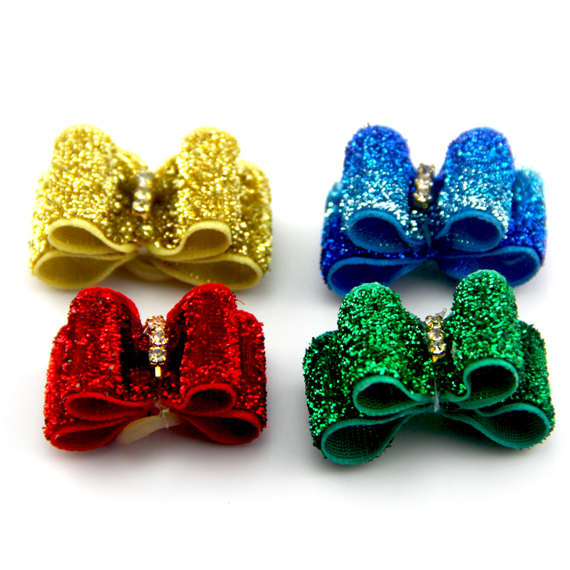 Fashion Cute Flower Bow Pet Hairpin Hair Accessory Dog Bow for Small Dogs and Cats Chihuahua Yorkshire Poodle Pitbull Whol
