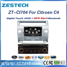 ZESTECH In dash headrest dvd player auto radio gps with auto dvd for Citroen C4