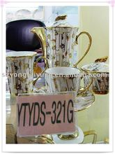 24pcs royal design gold plated fine porcelain tea set