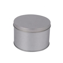 Round Tin Can Storage Box Tinplate