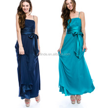 Ladies Gown Best Sexy Long Maxi Night Evening Wedding Party Apparel Clothing Elegant Spaghetti Straps Chiffon Ladies Gown