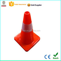 Road safety equipment PVC red reflective traffic cone for sale