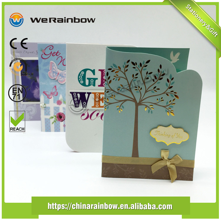 Wholesale Popular Promotions High Quality Sympathy Holiday Greeting Card