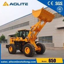 AOLITE 650B chinese wheel loader with tip bucket by professional manufacturer