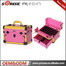 Pink Trolley PVC Case Nail Polish Trolley Makeup Artist Case